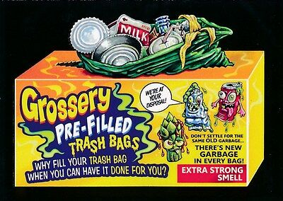 #3 GROSSERY TRASH BAGS 2017 Wacky Packages 50th Anniversary POP CULTURE