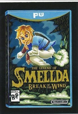 #3 LEGEND OF SMELLDA 2017 Wacky Packages 50th Anniversary VIDEO GAMES ZELDA