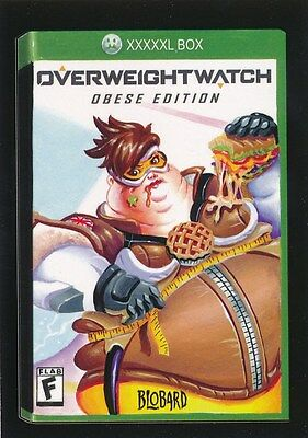 #9 OVERWEIGHTWATCH 2017 Wacky Packages 50th Anniversary VIDEO GAMES OVERWATCH