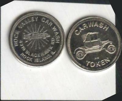 Rock Valley Car Wash Token Rock Island, Illinois