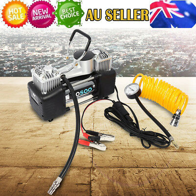 12V 150PSI Car Air Compressor 4WD Tyre Inflator Portable Kit Pressure Pump AHG