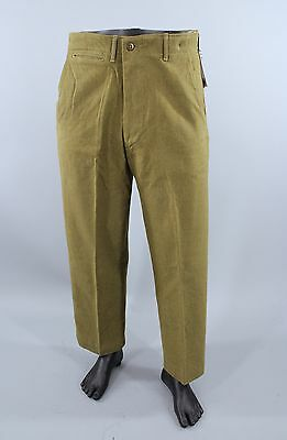 Vintage 1940s M37 Wool Field Trousers WW2 US Army Pants