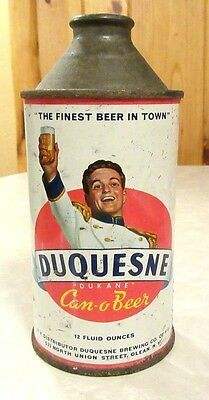 Vintage Duquesne Can-o-Beer 12 FL OZ Cone Top Beer Can