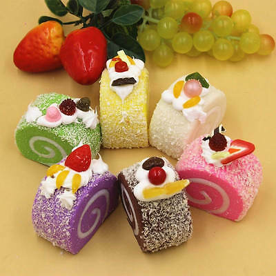 Cake Squishy Simulation Super Slow Rising Bread Phone Charms Straps Kid Toys 6CM