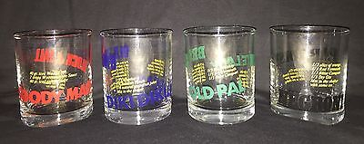 Vintage vtg Barware Bar Mixed Drink Recipe Tumblers Glasses 4 Bloody Mary