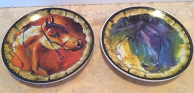 Beautiful Pair Of Marcia Baldwin Collectible Horse Plates