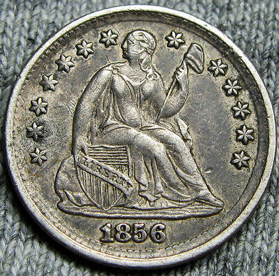 1856 Seated Liberty Half Dime --- STUNNING TYPE COIN --- #N029