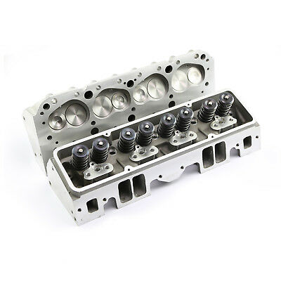 Complete Aluminum Cylinder Heads SBC Chevy 350 220cc 64cc 2.02/1.60 - Straight