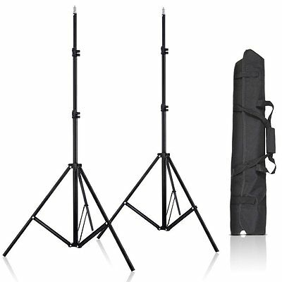 2 × 80Inch Aluminum Adjustable Impact Tripod Light Stands +Bag For Light Softbox