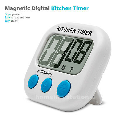 Large LCD Digital Kitchen Cooking Timer Count-Down Up Clock Alarm Magnetic Tools