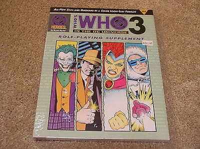 DC Heroes Who's Who in the DC Universe 3 roleplaying supplement - sealed