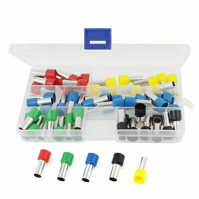 60 Pieces AWG4 Wire Crimp Insulated Ferrule Pin Cord End Terminal