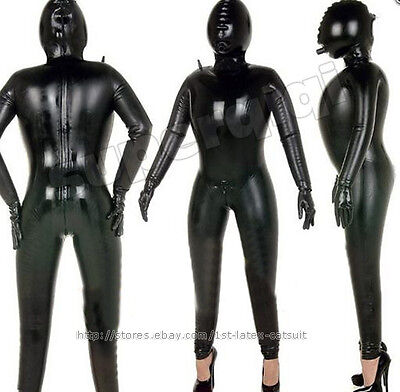100% Latex Rubber Gummi Aufblasbar Catsuit Blowup Ganzanzug Suit Bodysuit Kostüm