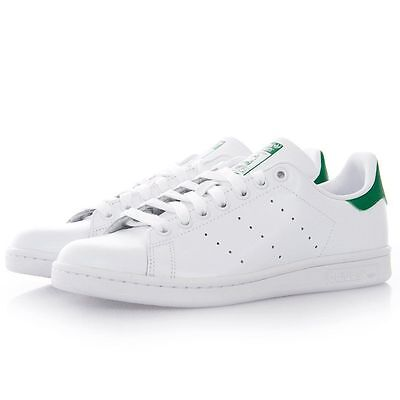 New Stan Smith Leather Mens Trainers Sneakers Shoes White+Green/Navy