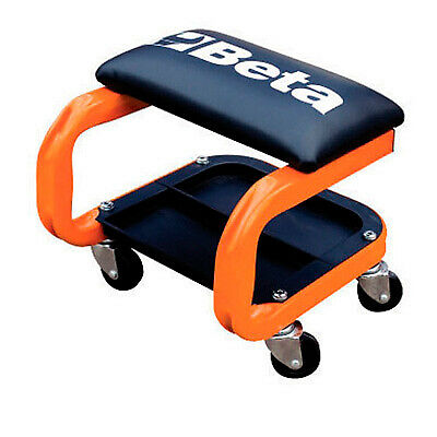 Beta Garage Mechanic Workshop Roller Seat With Castors - Orange - 022520001