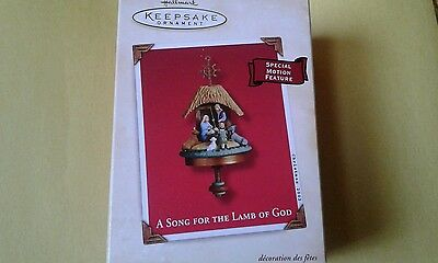2002 Hallmark A Song For The Lamb Of God Christmas Ornament NEW IN BOX