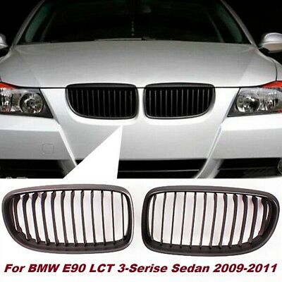 Front Kidney Matte Black Grille Grill For BMW E90 E91 LCI 3 Series 4DR 2009-2011