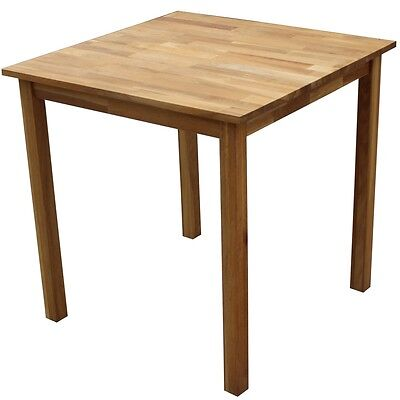 Homegear Solid Oak Square Dining Table
