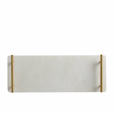 NEW Maxwell & Williams Mezze Marble Tray Gold Handle 40x15cm