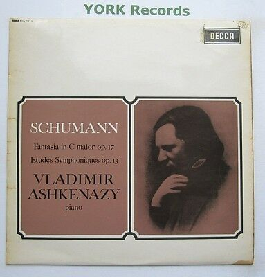 SXL 6214 - SCHUMANN - Fantasia in C Major ASHKENZY *W/B GROOVED* - Ex LP Record