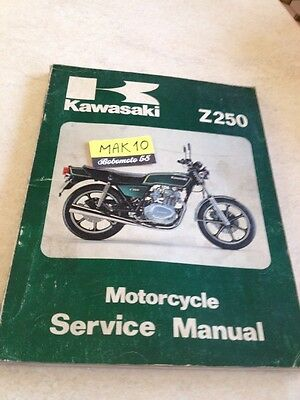 Kawasaki Z250 Z 250 manuel revue technique atelier workshop first edition 78