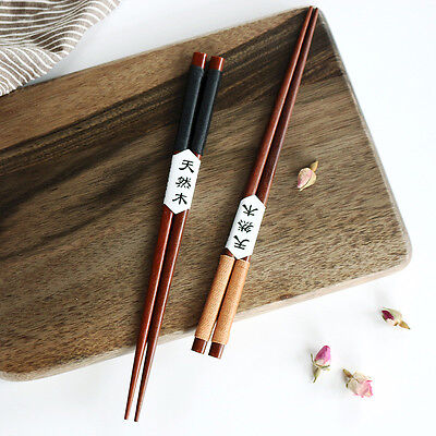 2 Pairs Handmade Japanese Natural Chestnut Chopsticks