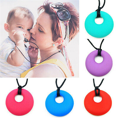 Baby Nursing Tools for Mom Healthy Silicone Teething Pendant Necklace Mild