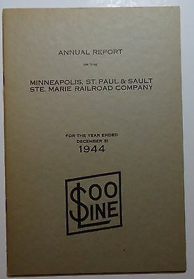 SOO Line Railroad 1944 Annual Report