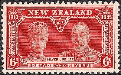 New Zealand 1935 KGV 6d Silver Jubilee MH