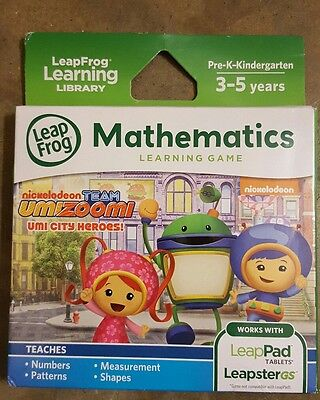 NEW LeapFrog 39145 Team Umizoomi Learning Game for LeapPad and Leapster
