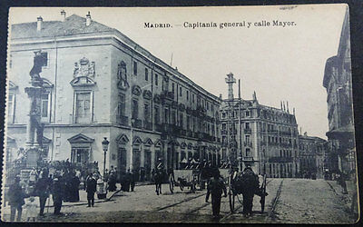 Antigua Postal Madrid Capitania General Y Calle Mayor      Cc3527