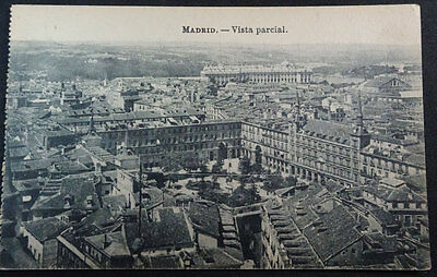 Antigua Postal Madrid Plaza Mayor Aerea Aerial Postcard Postkarte        Cc03532