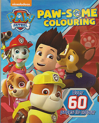 Paw Patrol Colouring Book (Paw-some) New, 60+ Pages to Colour