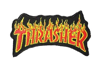 Thrasher Embroidered Cloth Iron On Patch   Aufnäher