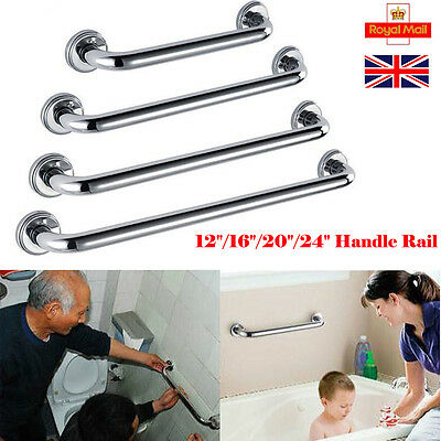 Stainless Steel Shower Bath Grab Bar Grip Bathroom Aid Safety Hand Handle Towel