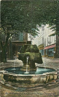 E. Top Cpa 13 AIX-EN-PROVENCE. Fontaine Thermale Cours Mirabeau 1910. Omega