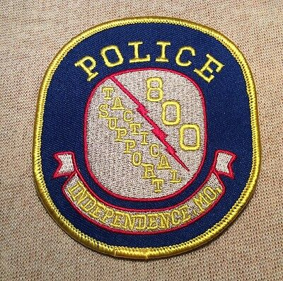 MO Independence Missouri Tactical Support Police Patch