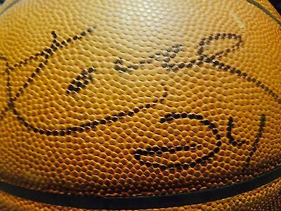 Los Angeles Lakers 2015-16 Game Used NBA Basketball Signed By Kobe Bryant