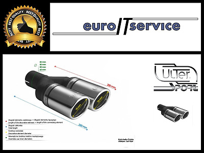 TOP DOUBLE MUFFLER TIP ULTER SPORT N2-70RS - SILENCER TAIL PIPE Ø2x70