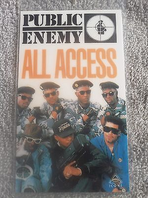 """PUBIC ENEMY - """"All Access Pass"""" Laminated Card - AUTHENTIC"""