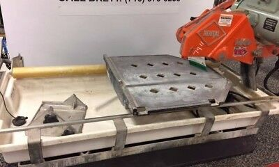 MK 10 in Wet Tile Saw MK-101 Pro24 Diamond Ceramic Cutting Stand & Blade Used