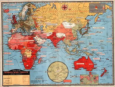 1943 Map of The British Empire  Poster  A3/A2 Print