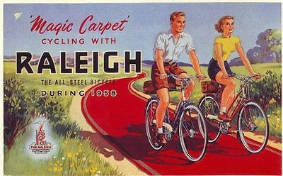 1950's Raleigh Bicycle Advertisement  Poster A3 / A2 Print
