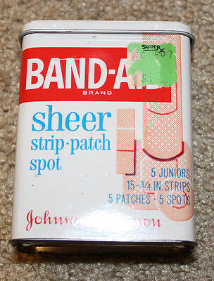 Vintage Metal Band-Aid Box Sheer Strip Patch Spot Code 4901