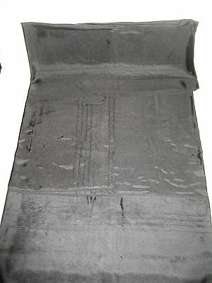 """LP56 Vintage Satin Linen Table Cover Cloth Halloween Fabric Crafting 34X34"""""""