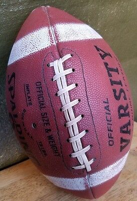 Vintage Spalding Official Varsity Genuine Leather Football Made In U.s.a