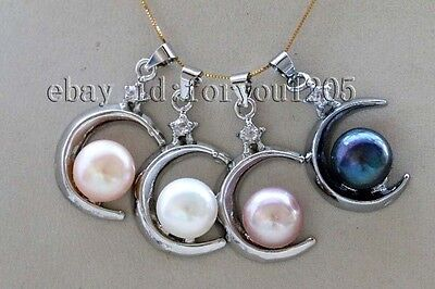 Wholesale 4pieces Luster Genuine Natural 10mm Pearl Pendant #f2507!