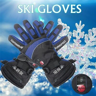 Waterproof Adjustable Battery Powered Duplex Heated Winter Warmer Men Gloves XL