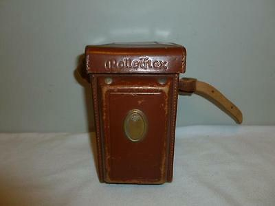 Vintage Rolleiflex Leather Case with Strap for Rollei T Camera-BL