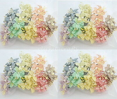 50 Pastel Paper Flower Lilies Scrapbook Card Home Decor Art Craft Supply LY3-426